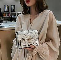Модная белая женская сумочка клатч. Женская мини сумка. Маленькая сумочка.