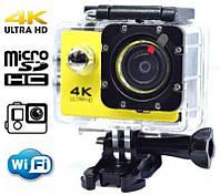 Экшн камера Action Camera 4к V3R WiFi крепление в комплекте+водостойкий кейс для подводной съемки, фото 1