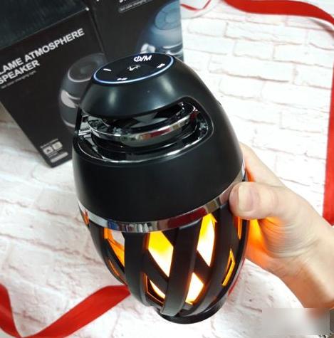 Портативная колонка Flame Atmosphere Speaker с пламенной LED подсветкой