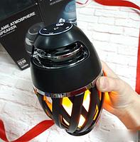 Портативная колонка Flame Atmosphere Speaker с пламенной LED подсветкой, фото 1