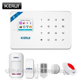 Охоронна сигналізація KERUI W18, Wi-Fi, GSM. Датчик відкриття, датчик руху, датчик диму, безпровідна