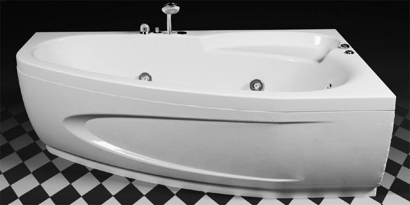 Правосторонняя гидромассажная ванна Rialto Como Hydro 170x100, 1700х1000х575 мм