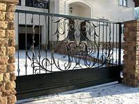 Откатные кованные ворота