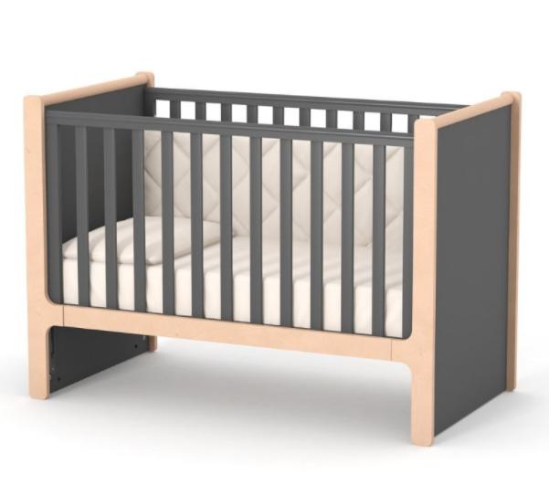 Дитяче ліжечко Верес Ніцца ЛД7 Темно-сіре