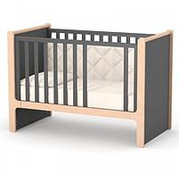 Дитяче ліжечко Верес Ніцца ЛД7 Темно-сіре, фото 2