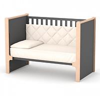 Дитяче ліжечко Верес Ніцца ЛД7 Темно-сіре, фото 3
