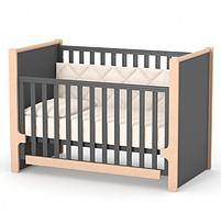 Дитяче ліжечко Верес Ніцца ЛД7 Темно-сіре, фото 4