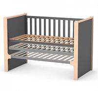 Дитяче ліжечко Верес Ніцца ЛД7 Темно-сіре, фото 5