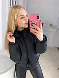 Женская стильная дутая куртка утеплитель силикон 150, фото 5
