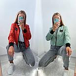 Жіночий бомбер стильний двосторонній в кольорах (Норма), фото 2