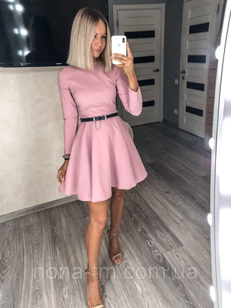 Женское платье однотонное (Норма)