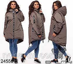 Стильна дуже тепла куртка з капюшоном в кольорах