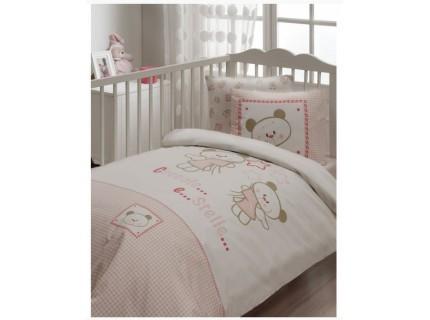 Постельное белье для младенцев Karaca Home - Stelle розовый ранфорс