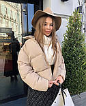 Дута жіноча курточка на синтепоні в кольорах (Норма), фото 4