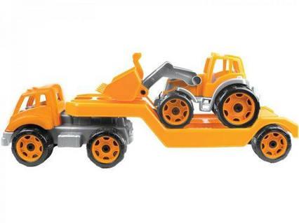 Автовоз с трактором ТехноК, оранжевый. 3916