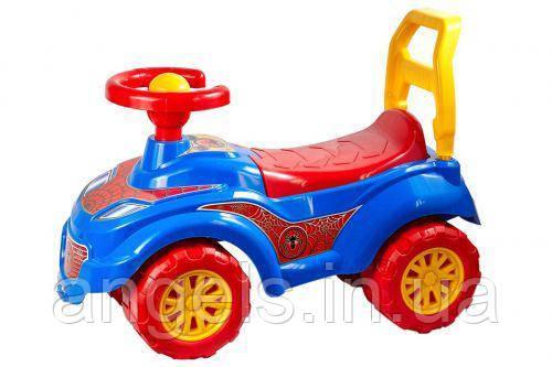 Машинка-толокар Спайдер синий 3077