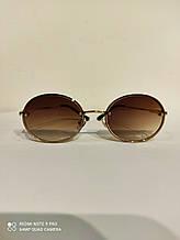 Солнцезащитные очки Модные Стильные 2021 Овальные коричневые золотая оправа Градуированные с поляризацией