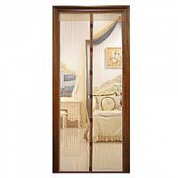 Антимоскитная сетка на дверь (антимоскитная сетка) Vegas 130х220 см коричневая