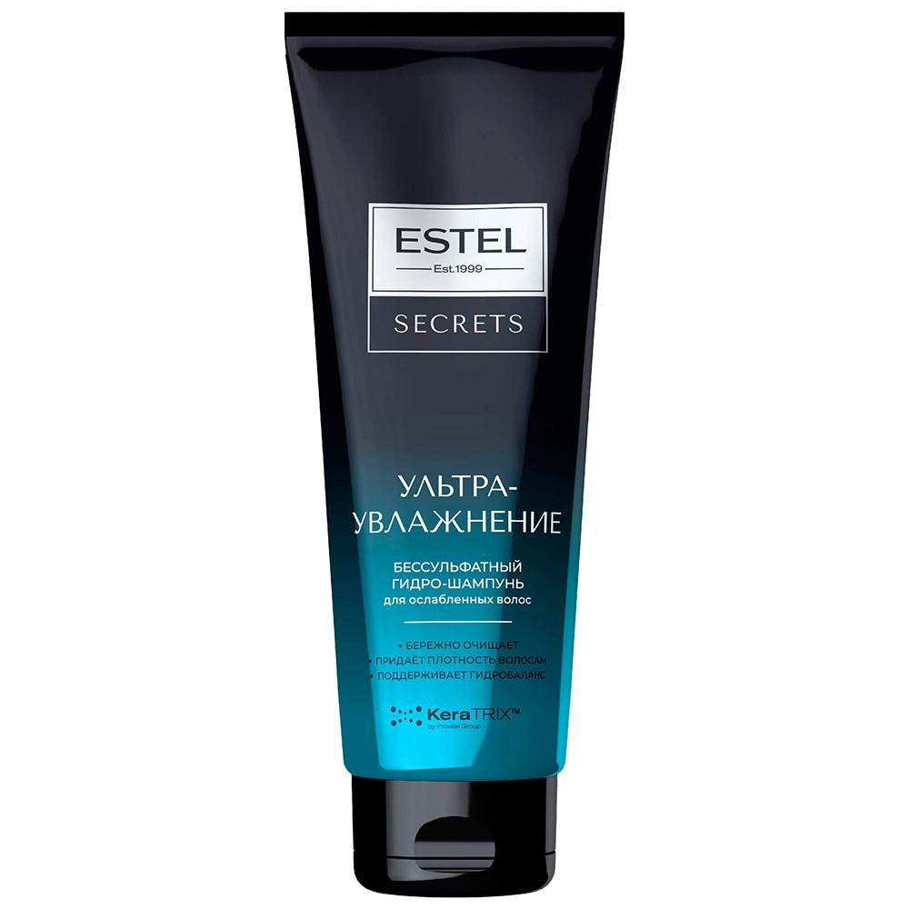 """Безсульфатний гидро-шампунь для ослабленных волос """"Ультраувлажнение"""" Estel Secrets 250 мл (4606453067728)"""