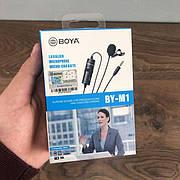Профессиональный петличный микрофон BOYA BY-M1 3.5 мм микрофон петличка для телефона петличка для пк камеры