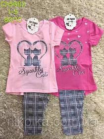 Набор-двойка для девочек оптом, S&D, 1-5 лет, арт. CH-5682