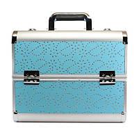 Алюминиевый кейс для косметики - CaseLife A-72 Голубое Сияние - A72-BLUE-GLOWING