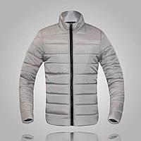 Мужская куртка на синтепоне весна осень серый(стальной) р.46-48 и 48-50