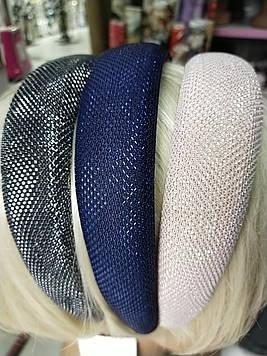Красивый обруч для волос объемный с люрексом модный 1 шт