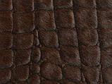 Крупная шкура коровы высшего качества, выдавленая под крокодила с блестящей и шелковистой бордовой шерстью, фото 5