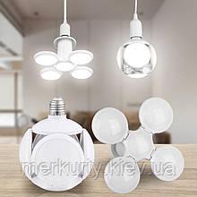 Лампочка люстра светодиодная раскладная LED лампа 40Вт 220В E27 Football UFO Lamp new bubble