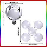 Лампочка люстра светодиодная раскладная LED лампа 40Вт 220В E27 Football UFO Lamp new bubble, фото 4