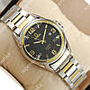 Кварцевые наручные часы Omega quartz 8266-1 Silver-gold/Black 1865