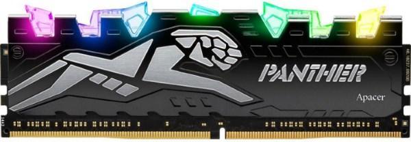 Пам'ять DDR4 RAM  8GB Apacer 3200MHz PC4-25600 Panther Rage RGB  (EK.08G21.GJN) (код 112858)