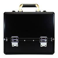 Алюминиевый кейс для косметики - CaseLife A-254 Черный Матовый - A254-BLACK-M