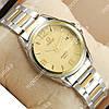 Яркие наручные часы Omega quartz 8266-1 Silver-gold/Gold 1866