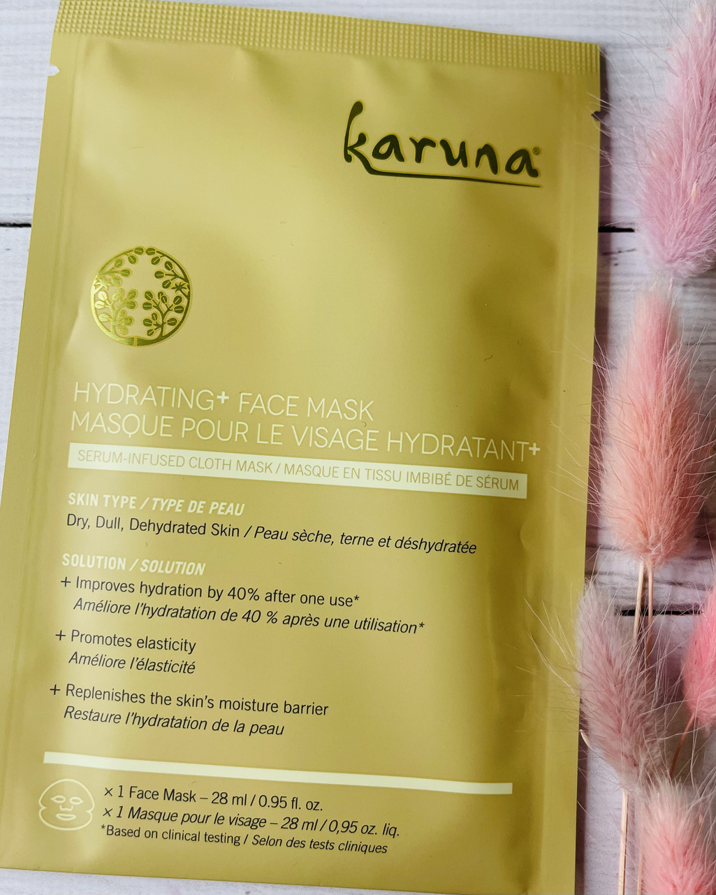 Тканевая увлажняющая маска для кожи лица KARUNA Hydrating Face Mask
