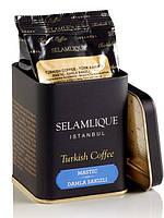 Selamlique Турецкий молотый кофе в банке Премиальный кофе Мастика 125 грамм Арабика 100%