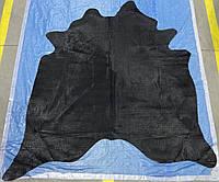 Шкура с тиснением под рептилий черная, экзотические шкуры для интерьера, фото 1