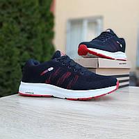 Мужские кроссовки Adidas NEO (Чёрные с красным) О10075 стильные кроссы на пене для парней