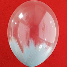 "Латексна кулька з малюнком Браш голубий Belbal 12""/ 038 / 30 ТМ ""Shar Expert"""
