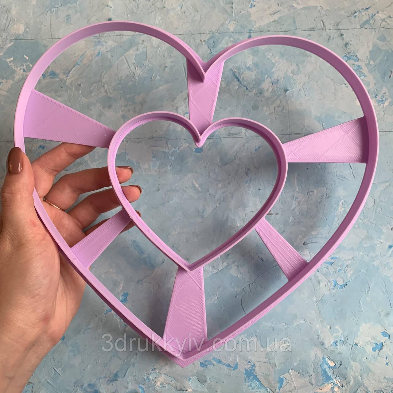 Вирубка ТОРТ - СЕРЦЕ 22х24.5см. / Вырубка - формочка для торта - сердца, коржей 22 см. / Торт - сердце