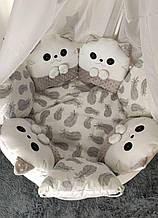 Обновленная модель детский постельный комплект в кроватку Котики