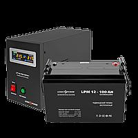 Комплект резервного питания для котла LogicPower ИБП B500VA + AGM батарея 100 Ah