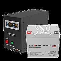 Комплект резервного питания для котла LogicPower ИБП B500 + мультигелевая батарея 720W