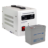 Комплект резервного питания для котла LogicPower ИБП 500 + мультигелевая батарея 590W