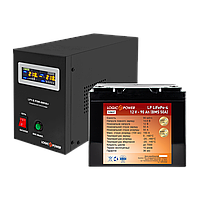 Комплект резервного питания для котла Logicpower B800 + литиевая (LifePo4)  батарея 1300ватт