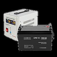 Комплект резервного питания для котла ИБП 500 + AGM батарея 100 Ah