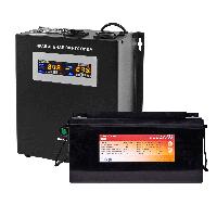 Комплект резервного живлення Logicpower W2000 + литеевая (LifePo4) батарея 2600 вт, фото 1