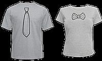 """Парные футболки """"Галстук и Бантик - 2"""""""
