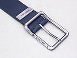 Мужской кожаный пояс для джинс RINO GOLD синий, фото 5